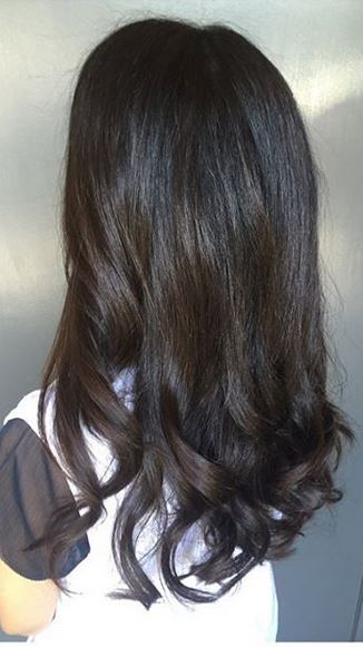 brunette hair color idea for fall and winter