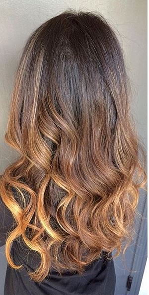 modern brunette ombre hair color