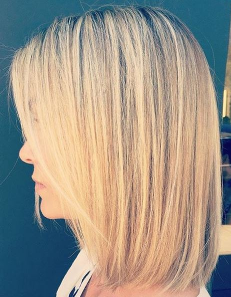 blonde highlights on bob length cut