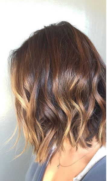 brunette ombre on short hair