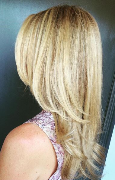 golden blonde highlights - hair color ideas
