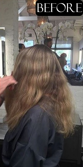 hair color and cut before and after photos