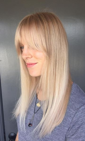 hair color idea - champagne blonde