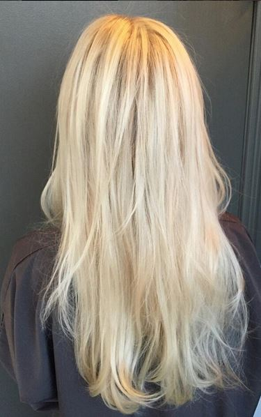 icy platinum blonde highlights