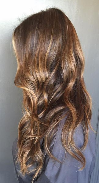 natural looking sunkissed brunette highlights
