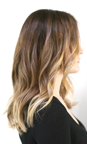 golden blonde and honey highlights