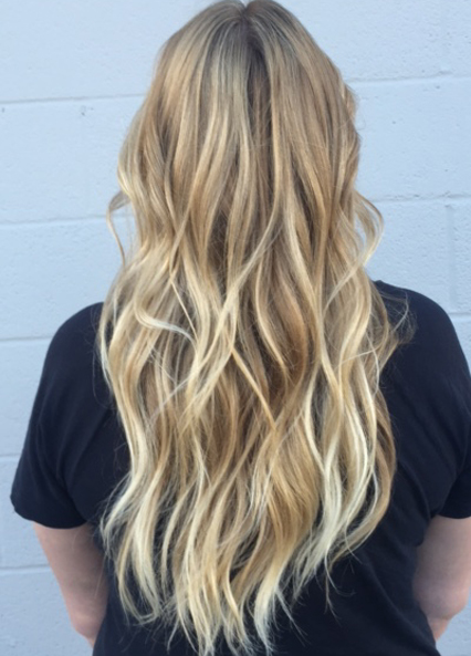 mid toned blonde highlights