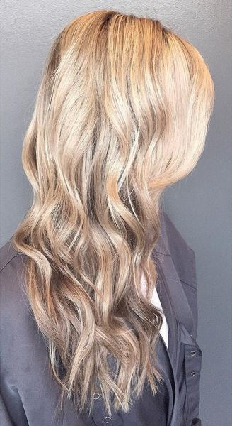beautiful blonde and beige tone highlights