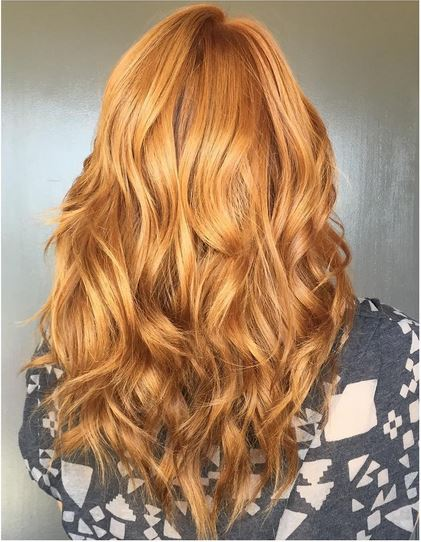 beautiful coppery red hair color