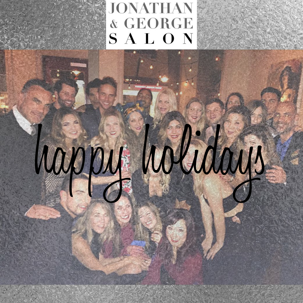 Best Salons In Los Angeles: Happy Holidays From JONATHAN & GEORGE