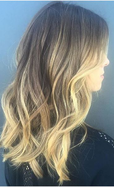 hair color idea - bronde ombre highlights