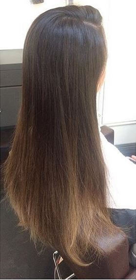 hair color ombre before and after