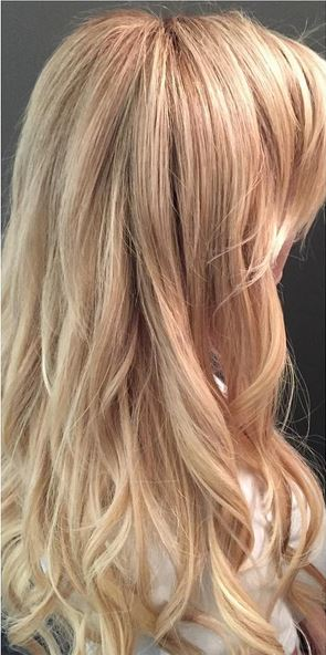 natural blonde hair color with extensions