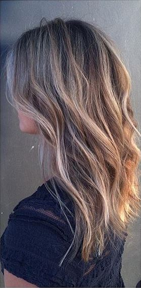 subtle and sunkissed bronde highlights - hair color idea