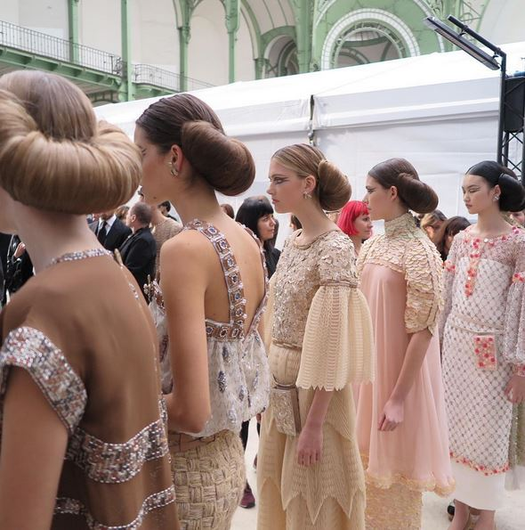 backstage hairstyles chanel spring 2016