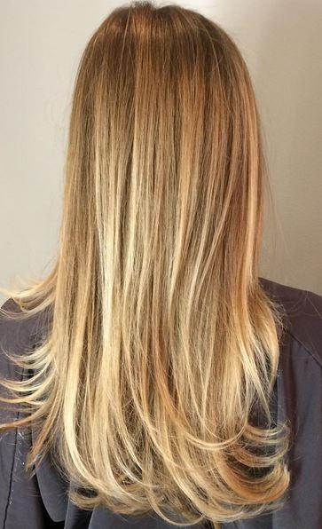 gold spun blonde balayage highlights