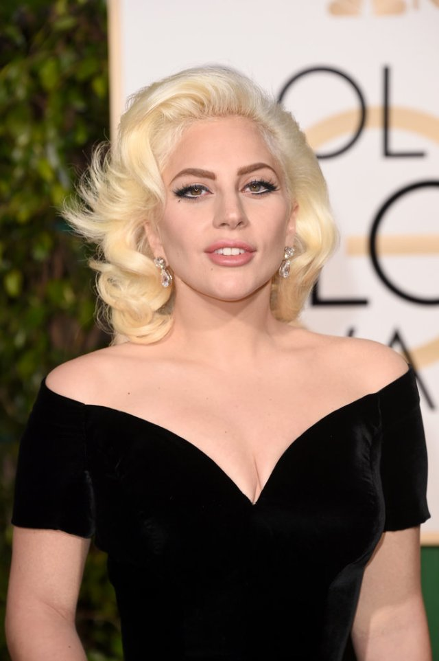 lady gaga 2016 golden globes - marilyn monroe inspired look