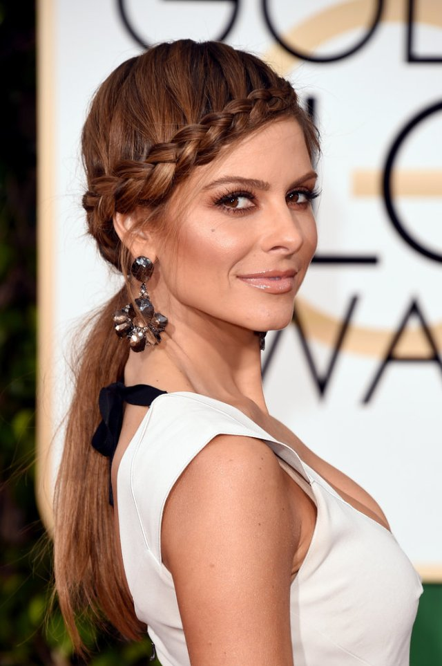 Maria Menounos - headband braid hairstyle