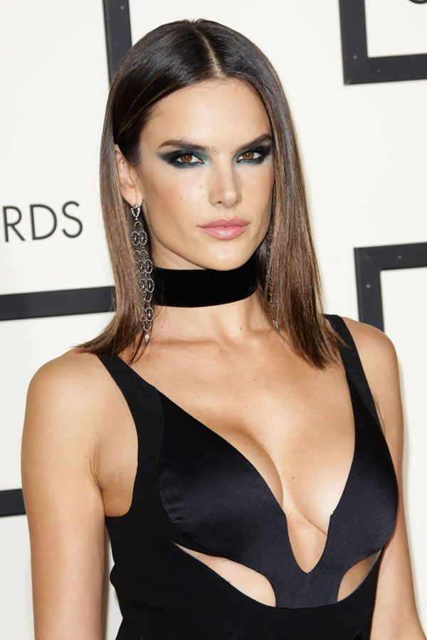 alessandra ambrosio - sleek bob and middle part