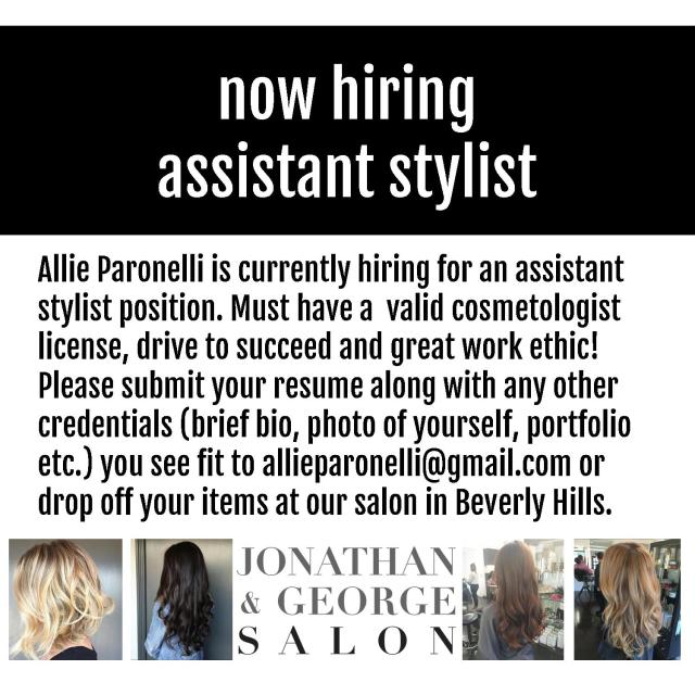 hair stylist jobs beverly hills