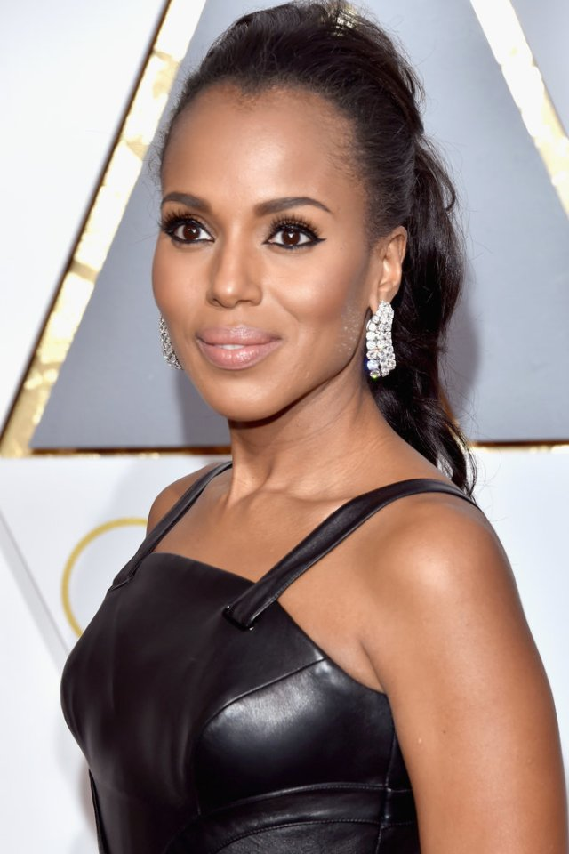 kerry washington hair and makeup 2016 oscars