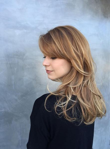 mid toned blonde with gold highlights