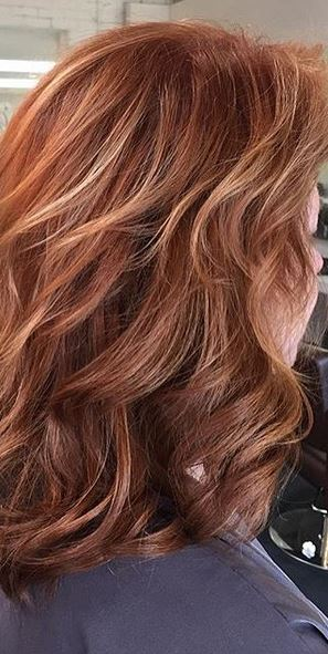 natural looking strawberry blonde highlights and extensions