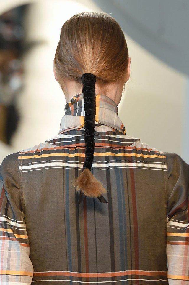 velvet wrapped ponytail Suno-Fall-2016