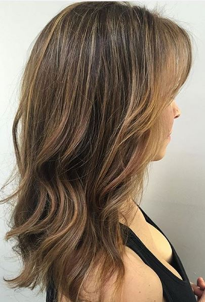 want this - superfine blonde highlights on light brunette hair