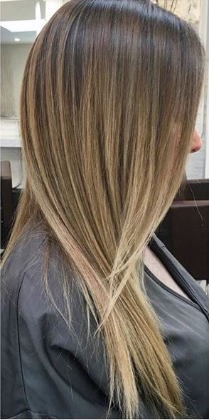 hair color idea - subtle blonde babylights