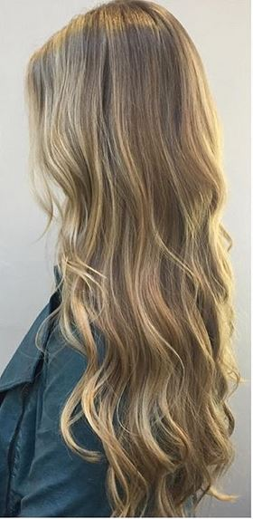 natural looking mid toned blonde highlights