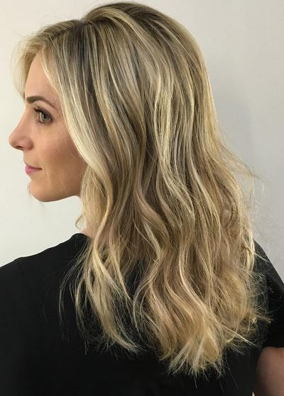 spring hair trends - mid toned blonde highlights