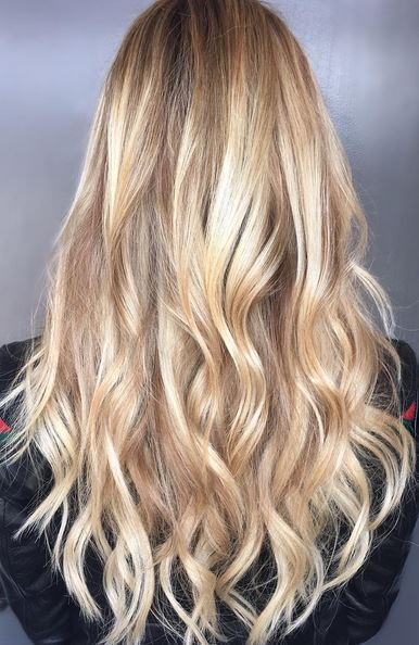 beautiful and natural blonde hair color