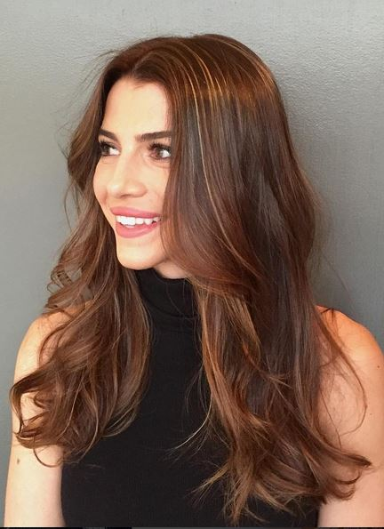 beautiful sunkissed brunette highlights