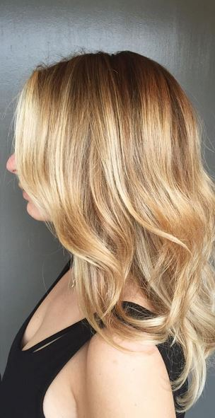 blonde honey highlights