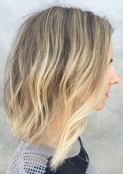 blonde ombre hair color on short hair