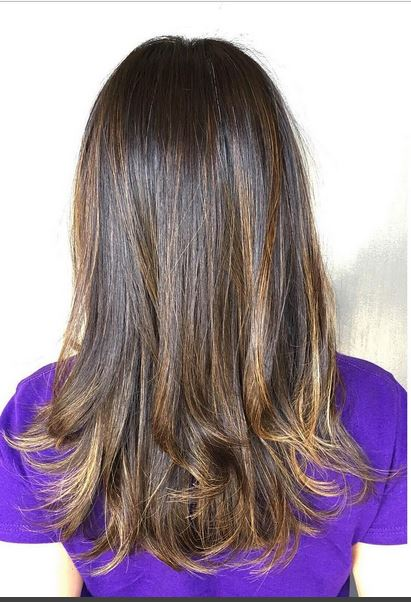 brunette 'sombre' highlights