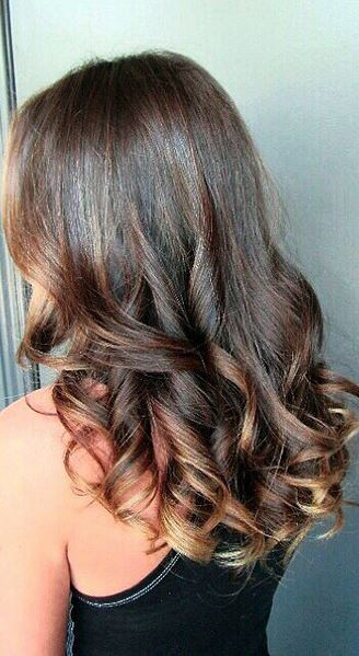beautiful sombre brunette highlights