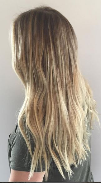 bronde and blonde balayage highlights