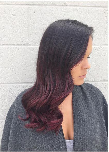 dark violet ombre