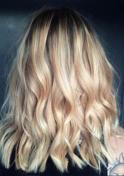 rooty blonde hair color