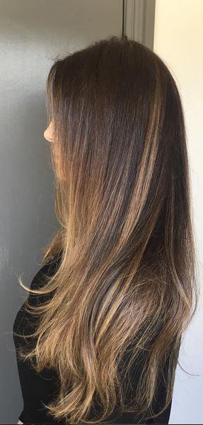 brunette balayage babylights
