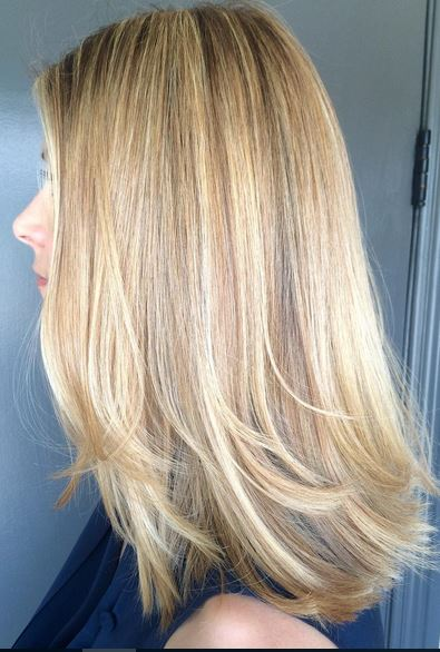 perfect meld of beige and baby blonde highlights