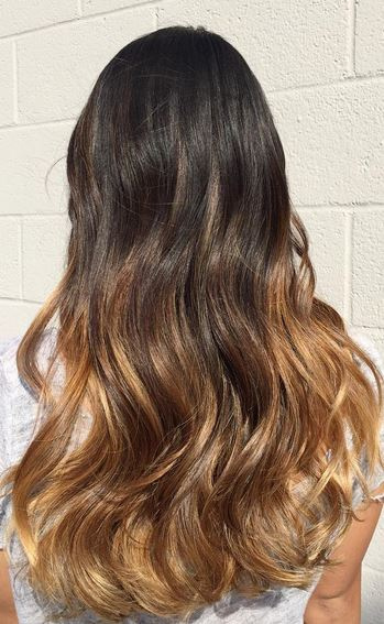 beautifully blended caramel ombre
