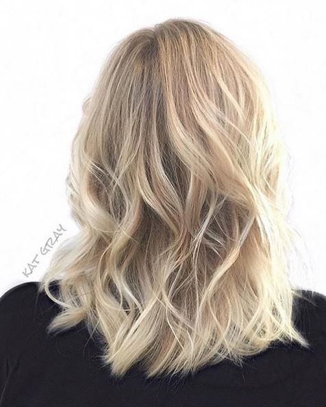 buttery baby blonde highlights