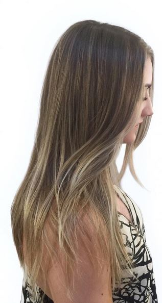 very subtle blonde highlights on dark blonde hair