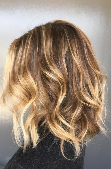 amazing caramel bronde highlights