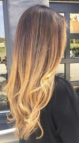 caramel brunette ombre