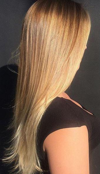 natural honey and gold blonde highlights