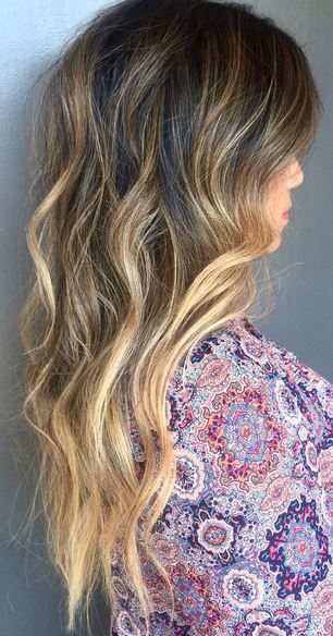 sunkissed brunette ombre highlights